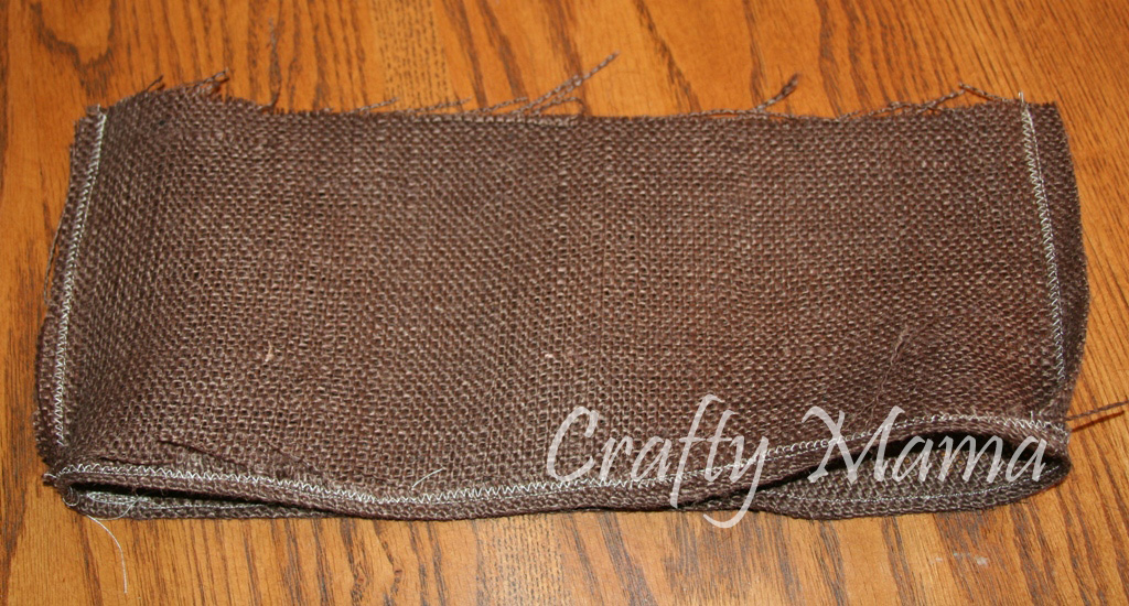 how to make a burlap purse