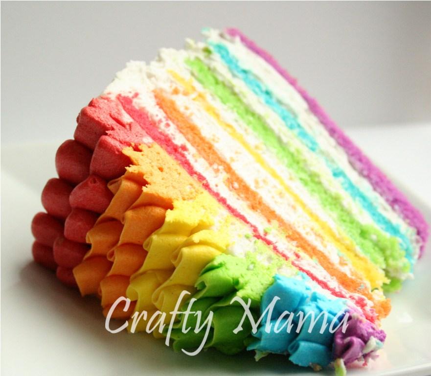 Images For Rainbow Cakes : Ruffle Top Rainbow Cake :) Crafty Mama