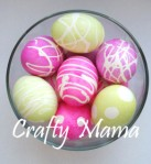 Making designs on Easter Eggs