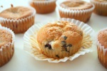 Gluten free lemon blueberry and raspberry muffins