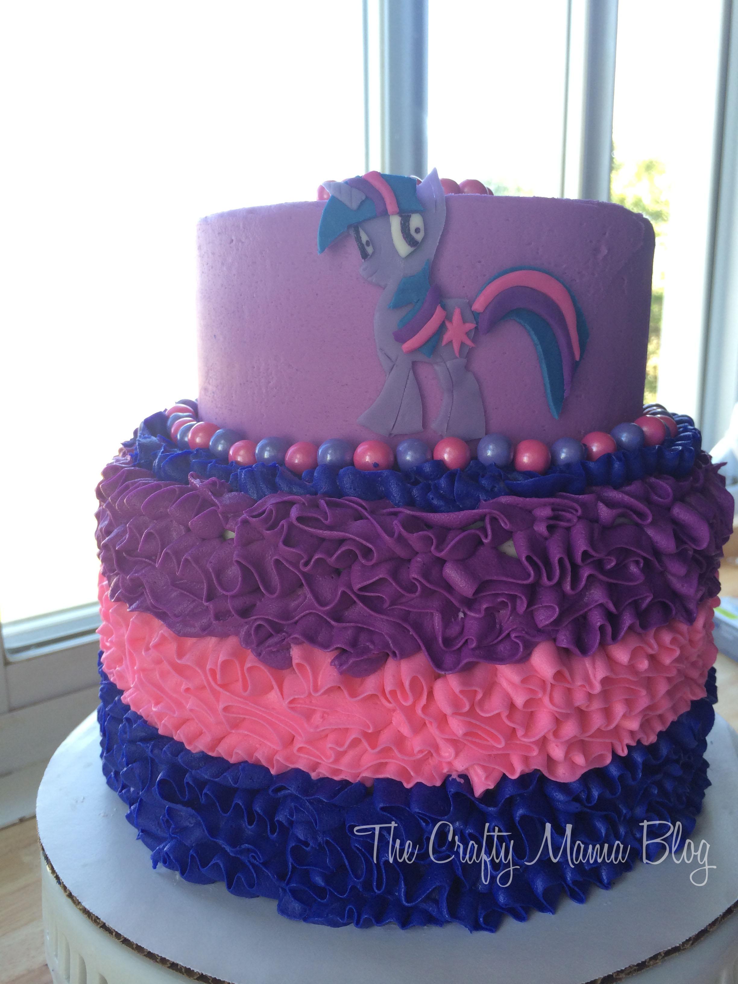 Strange My Little Pony Cakes Part Two Twilight Sparkle Crafty Mama Funny Birthday Cards Online Overcheapnameinfo