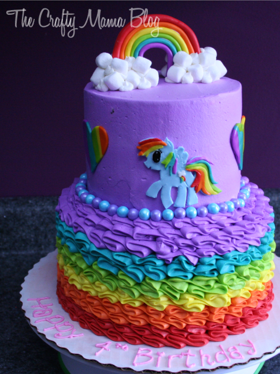 My Little Pony Twilight Sparkle Birthday Cake With Buttercream Icing